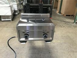 7 Gallon Double Deep Fryer Propane Gas Commercial Countertop