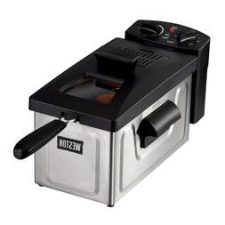 8-Cup 2 l Oil Capacity Deep Fryer Adjustable Temperature Con