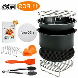 8 Inch Air Fryer Accessories,Blusmart 11 pcs Deep Fryer Set