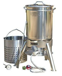 Bayou Classic 800-144 -44 quart  All stainless boil steam a