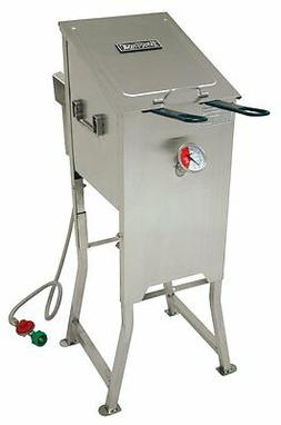 Bayou 700-701 4 Gallon Stainless Steel Propane Deep Fryer W/