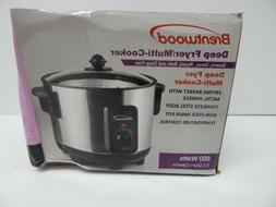 Brentwood - 5-quart Deep Fryer And Slow Cooker - Stainless S