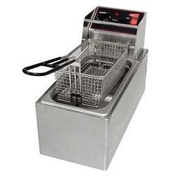 Cecilware Commercial S/S Countertop Electric Deep Fryer 6 lb