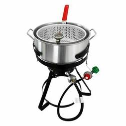 Chard FFPA105, Fish and Wing Fryer with Strainer Basket Set,