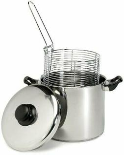 Excelsteel 6 Quart Stainless Steel Stove Top Deep Fryer