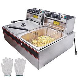 Generic 5000W 12 Liter Electric Countertop Deep Fryer Dual T