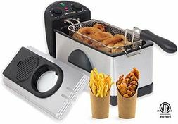 Gourmia GDF300 Compact Electric Restaurant Deep Fryer - 1 Ba