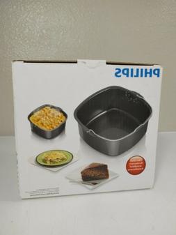 Philips - Viva Collection Airfryer Baking Pan - Black