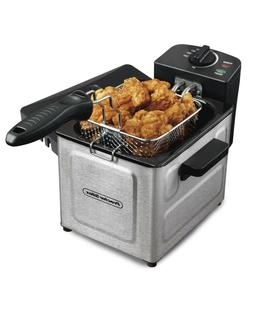 Professional-Style Electric Deep Fryer 1.5-Liter, Stainless