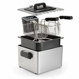 Aroma ADF-232 Smart Fry XL 4-Quart Digital Dual-Basket Deep