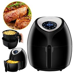 SUPER DEAL XL Hot Air Fryer Family Size 5.8 Qt. Newest Touch