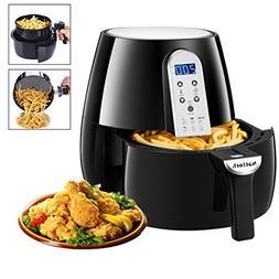 Black Air Fryer Hot Air Fryer 4.3 L/4.5 QT Smart Technology