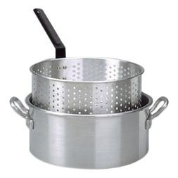 10 Qt. Aluminum Deep Fryer with 2 Riveted Handle and Punched