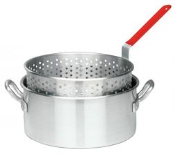Aluminum Fry Pot Basket Deep Fryer Frying Pan Cooker Cookwar