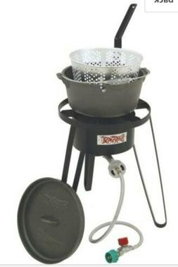 Bayou Classic B159 21 Inch Outdoor Fish Cooker and Cast Iron