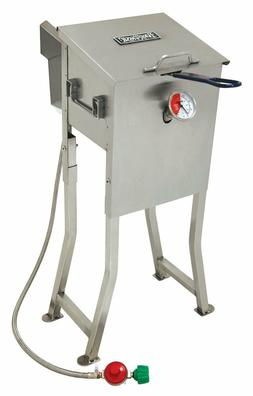 BAYOU 700-725 2.5 GALLON STAINLESS STEEL PROPANE DEEP FRYER