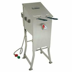 Barbour 700-701 4 Gal Bayou Fryer With 2 Ss Baskt