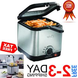 Best Deep Fryer Stainless Steel Compact Small Mini Electric
