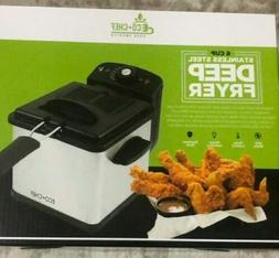 BRAND NEW in BOX ECO+CHEF 6-Cup Stainless Steel DEEP FRYER E