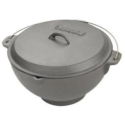 2.75 Gallon Cast Iron Deep Fryer with Jambalaya Pot