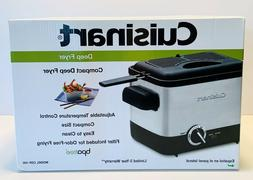Cuisinart CDF-100 Deep Fryer, Brushed Stainless Steel - NEW