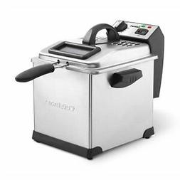 Cuisinart Cdf 170 Deep Fryer, 3.4 Quart, Stainless Steel