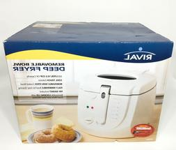 RIVAL  CF250- 2.5 Liter Cool Touch Electric Deep Fryer w/ No