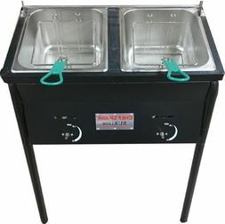 Chefspark Outdoor Two Tank Well Fryer 2 Baskets Stainless St