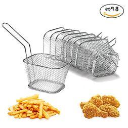 8Pcs Chip Serving Basket French Fries Crisps Wedges Onion Ri
