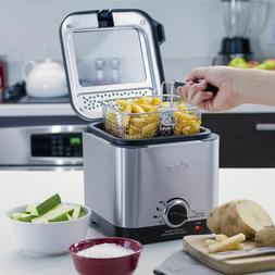 Oster CKSTDF102-SS Style Compact Stainless Deep Fryer, Steel