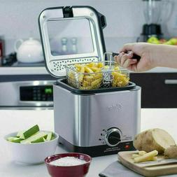 Oster CKSTDF102-SS Compact Style Stainless Deep Fryer Stainl
