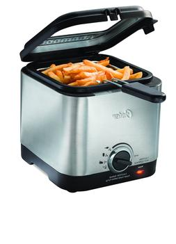 Oster CKSTDF102-SS Compact Style Stainless Deep Fryer, Stain