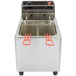 MyEasyShopping Comercial Countertop Electric Fryer-15 lb. Ca