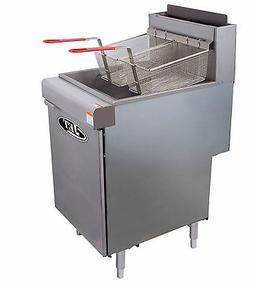 Commercial 70lb Floor Deep Fryer 5 Tube 150,000BTU/Hr LP GAS