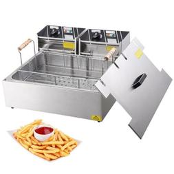 Commercial 5000W 20L Electric Countertop Deep Fryer Single L