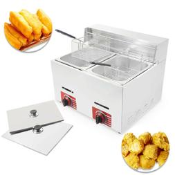 Commercial Countertop Gas Fryer 2 Baskets Deep Fryer GF-72 P
