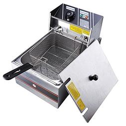 Yescom 2500W 6L Commercial Electric Countertop Stainless Ste