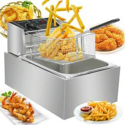 Commercial Electric Deep Fryer French Fry Bar Restaurant Tan