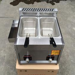 Commercial Kitchen 2 Fry Baskets Stainless Steel <font><b>Ga