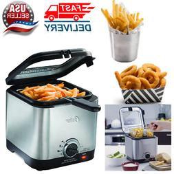 Compact Style Stainless Deep Fryer Stainless Steel 1.5 liter