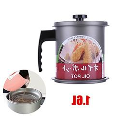 Cooking Oil Storage Grease Keeper, Grease Oil Strainer Conta