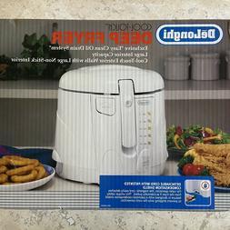 Delonghi Cool Touch Deep Fryer 2.2 lb Oil Drain White D650UX