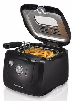 Cool Touch Deep Fryer Black Small Appliance Kitchen Countert