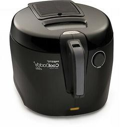 Cool-Touch Kitchen Electric 6-Cup Deep Fryer W/Removable Cha