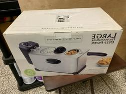 BELLA CUCINA LARGE PROFESSIONAL DEEP FRYER 2.2 LBS OF FOOD