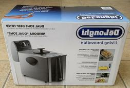 DELONGHI D14522DZ Dual-Zone 3-lb Stainless Steel Fryer with