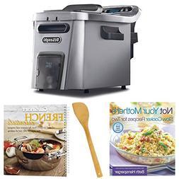 DeLonghi D44528DZ Livenza Easy Clean Deep Fryer w/2 Cookbook