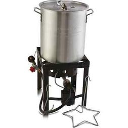 DEEP FRYER 30 QT TURKEY FRYER POT & Gas Stove Propane Burner
