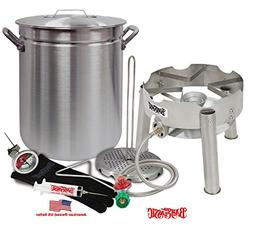 "Deep Fryer Kit 42 Quart Aluminum ""GRAND GOBBLER"" for 25+ LBS"