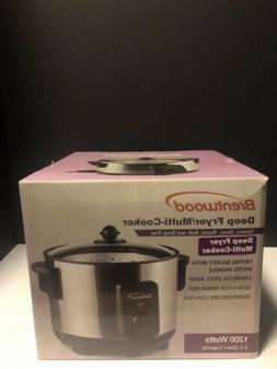 Brentwood Deep Fryer/Multi-Cooker 5.2 Quart Capacity. Stainl